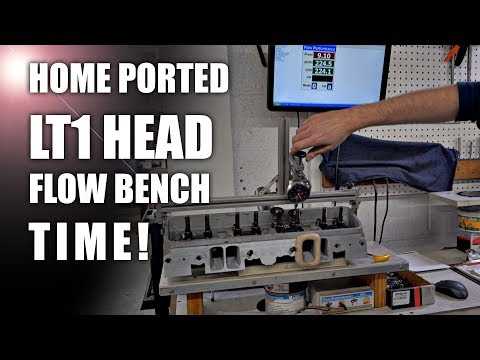 LT1 heads on the Flow Bench ! 1993 LT1 Home ported heads