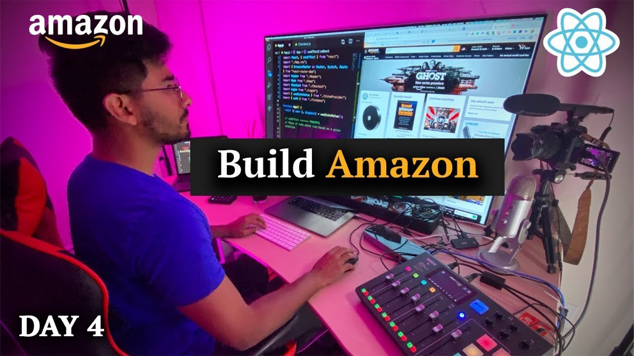 Build Amazon Clone with Full E-Commerce using Stripe and React (Day 4)