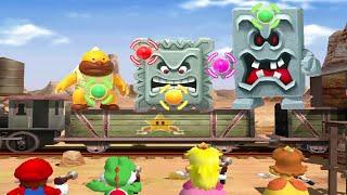 Mario Party 4 Minigames - Mario vs Yoshi vs Peach vs Daisy (Master CPU)
