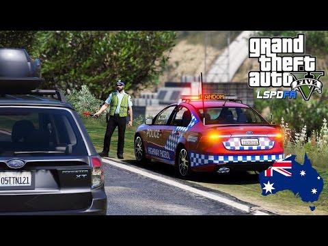 GTA 5 - Queensland Police Mod - Random Breath Testing (GTA 5 Police Mod for PC)