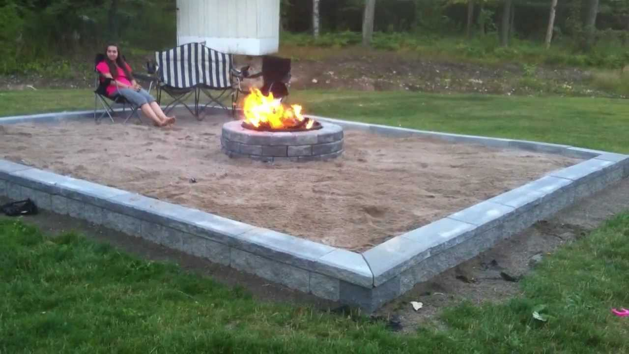 building back yard beach themed fire pit series