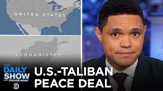 Nespresso Controversy, Taliban Agreement & New York Pay Phone Removal | The Daily Show