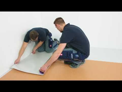 PVC-Belag / Designbelag Planken schnell auf bestehende Beläge kleben mit  Sigan Elements