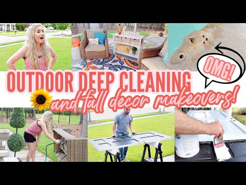 PORCH FALL CLEAN & DECORATE WITH ME   FALL DECORATING PT 2   EXTREME CLEANING MOTIVATION   Love Meg