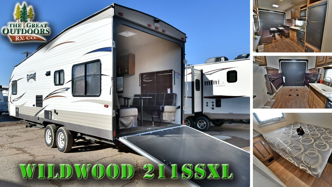 2017 Forest River Wildwood 211ssxl Ww190 Toy Hauler