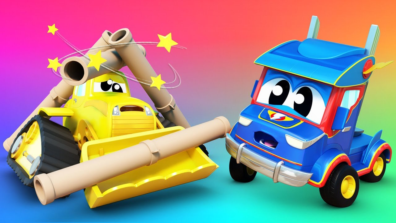 Help, SUPERTRUCK! BULLDOZER is STUCK!  | Super Truck | Car City World App