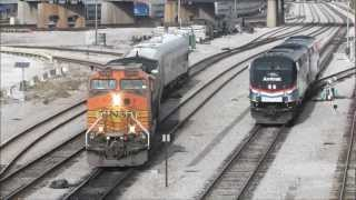 Amtrak 145, BNSF Inspection Train & More at 18th Street, Chicago, 15.11.12