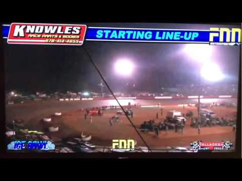 Ice Bowl 2017 @ Talladega Short Track. Dirt Track Super Late Models. Salute to fans