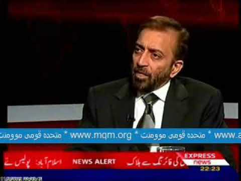 Express News Front LIne With Kamran Shahid : Dr  Farooq Sattar Deputy  Convenor MQM Part 2