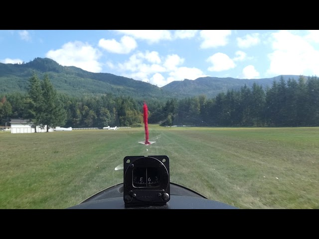 Landing in the glider at Bergseth Airfield, Enumclaw, WA