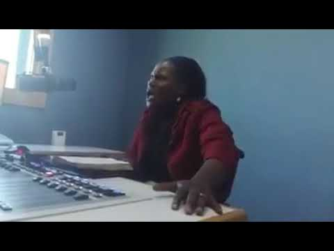 Rev M C Shonga ministering at radio Christian voice Zambia