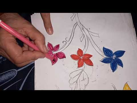 how to make simple easy step by step art coloring flower