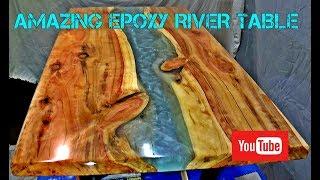 Epoxy Resin River Table Finish