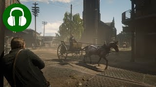 WILD WEST CITY SOUNDS 🎧 Studying | Relaxing | Sleeping (RED DEAD REDEMPTION 2 Ambience | ASMR)