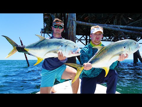 Fishing For GIANT Jack Crevalle Offshore