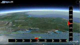 Last Space Shattle STS135 deorbit, reentry to touchdown tracking