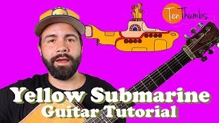 The Beatles - Yellow Submarine - Easy Beginner Acoustic Guitar Tutorial
