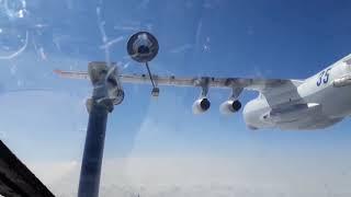 Дозаправка бомбардировщиков Су-24М в Волгоградской области