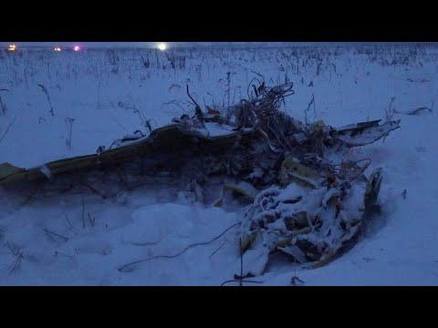 Überwachungskamera filmt Flugzeugabsturz in Russland