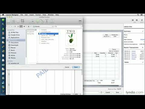 QuickBooks For Mac Tutorial: Customizing Invoices And Forms   Lynda.com