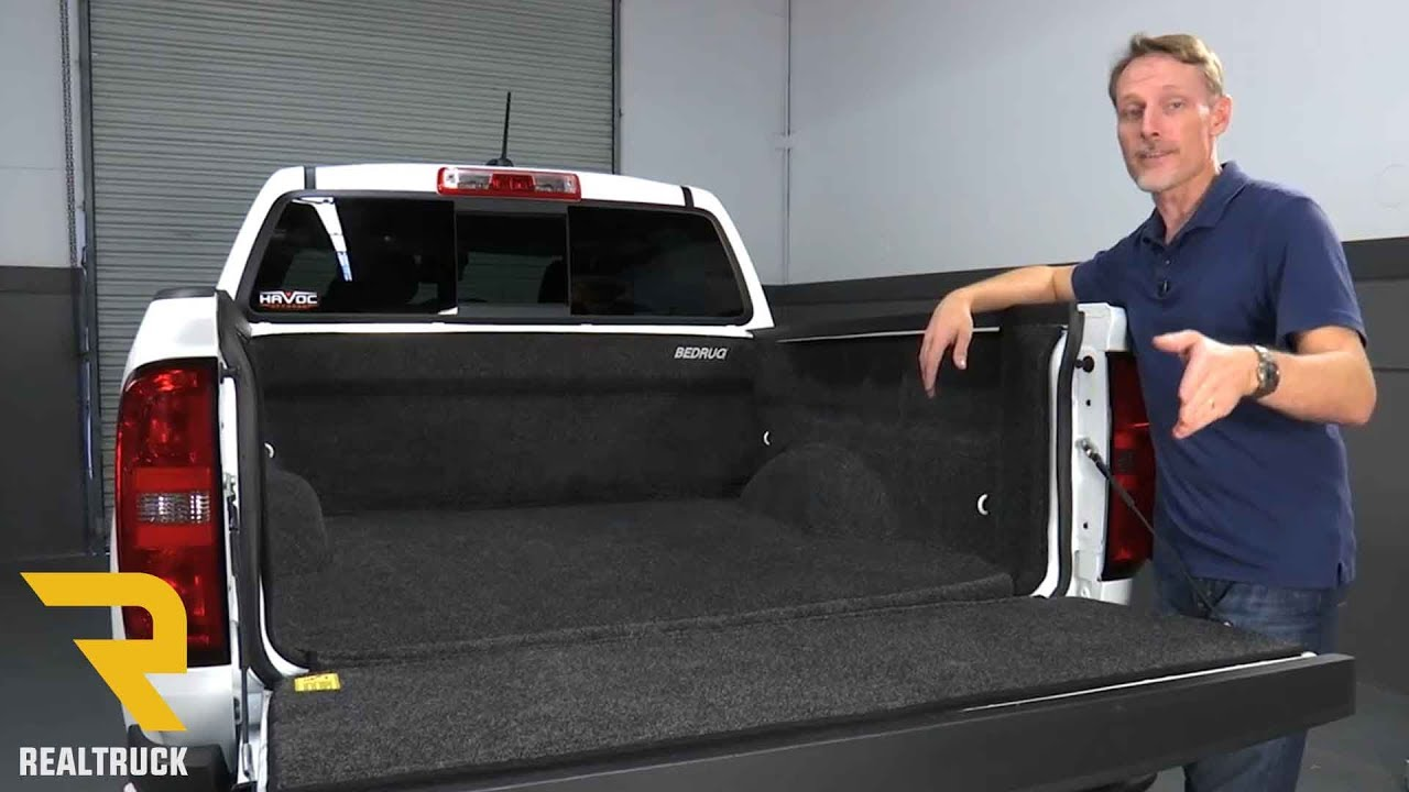 how to install bedrug full bed liner on a 2016 chevy colorado youtube. Black Bedroom Furniture Sets. Home Design Ideas