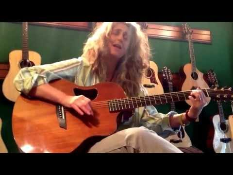 """Vicki Genfan plays """"What's Goin' On"""" at Mighty Fine Guitars"""
