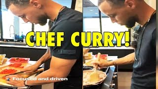 Stephen Curry spends time COOKING with his wife Ayesha Curry after 2018 NBA Finals