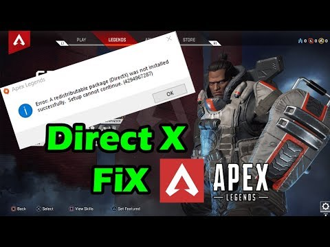 Apex Legends Won't Install In PC - Error: Redistributable Package (DirectX) Not Installed 4294967287