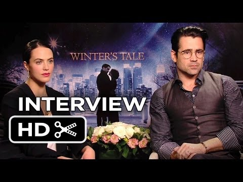 Winter's Tale Interview - Jessica Brown Findlay & Colin Farrell (2014) - Fantasy Movie HD