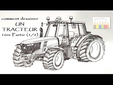 comment dessiner un tracteur 1 re partie sur 2 hd. Black Bedroom Furniture Sets. Home Design Ideas