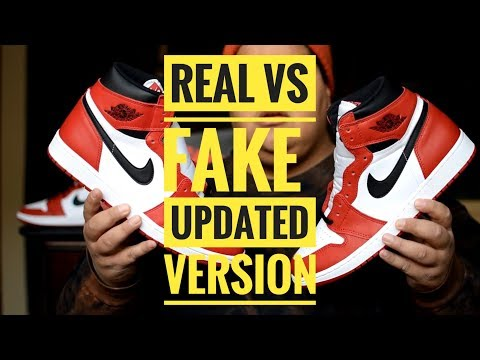 WHAT 2 LOOK FOR: REAL VS FAKE AIR JORDAN 1 CHICAGO UPDATED