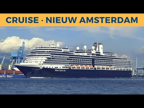 Departure of cruise ship NIEUW AMSTERDAM in Vancouver (Holland America Line)