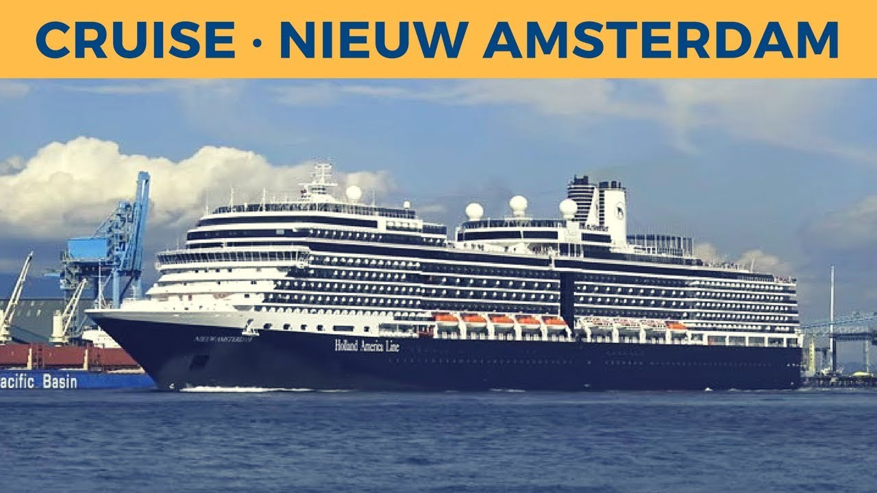 Departure of cruise ship NIEUW AMSTERDAM in