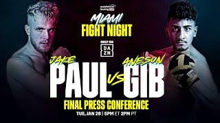 Jake Paul vs. Gib FINAL PRESS CONFERENCE (Official Live Stream)