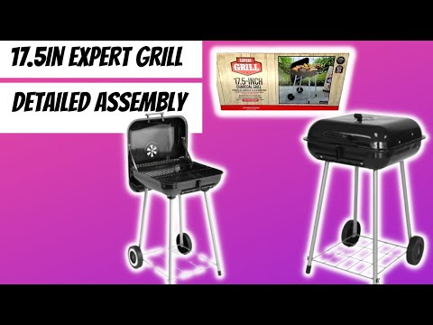 17.5in Expert Grill Unboxing & ASSEMBLY (In REAL TIME)   $20 Walmart Grill Review
