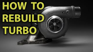how to repair rebuild turbocharger garrett t3 t4 airesearch m10 step by step