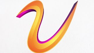 Adobe illustrator tutorial : How to Create a 3D Object with gradient color and Text Logo Effect