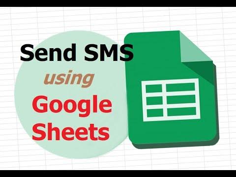 Send SMS Using Google Sheet