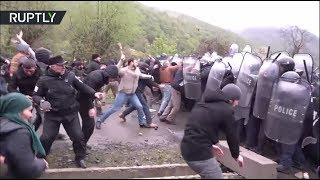 Georgians attack police with sticks and stones in Pankisi Gorge over hydropower plant construction