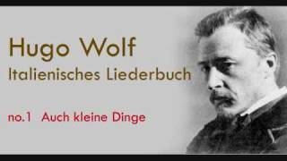 Hugo Wolf Auch kleine Dinge