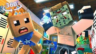 Purge The Buddy - The Crazy Teachers - Minecraft 360° Vr Video