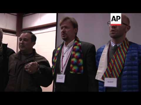 A United Methodist pastor was convicted under church law of officiating at his son's same-sex weddin from YouTube · Duration:  1 minutes 28 seconds