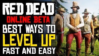 HOW TO GET THE HIGHEST XP/MINUTE IN RED DEAD ONLINE | RDR2 Online Best Ways To Level Up FAST & EASY!