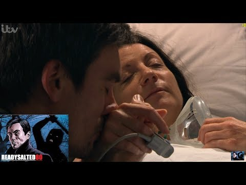 Emmerdale - Cain Comforts Harriet In Hospital
