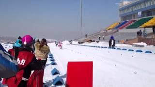 Финиш мужской эстафеты на Спартакиаде РК