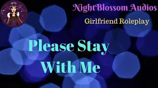 ASMR Girlfriend Roleplay - Please Stay With Me [Comfort][TW: Suicidal Thoughts]