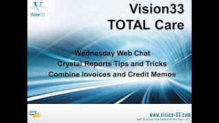 Crystal Reports Tips and Tricks - Combine Invoices and Credit Memos in SAP - Nov 27 2013