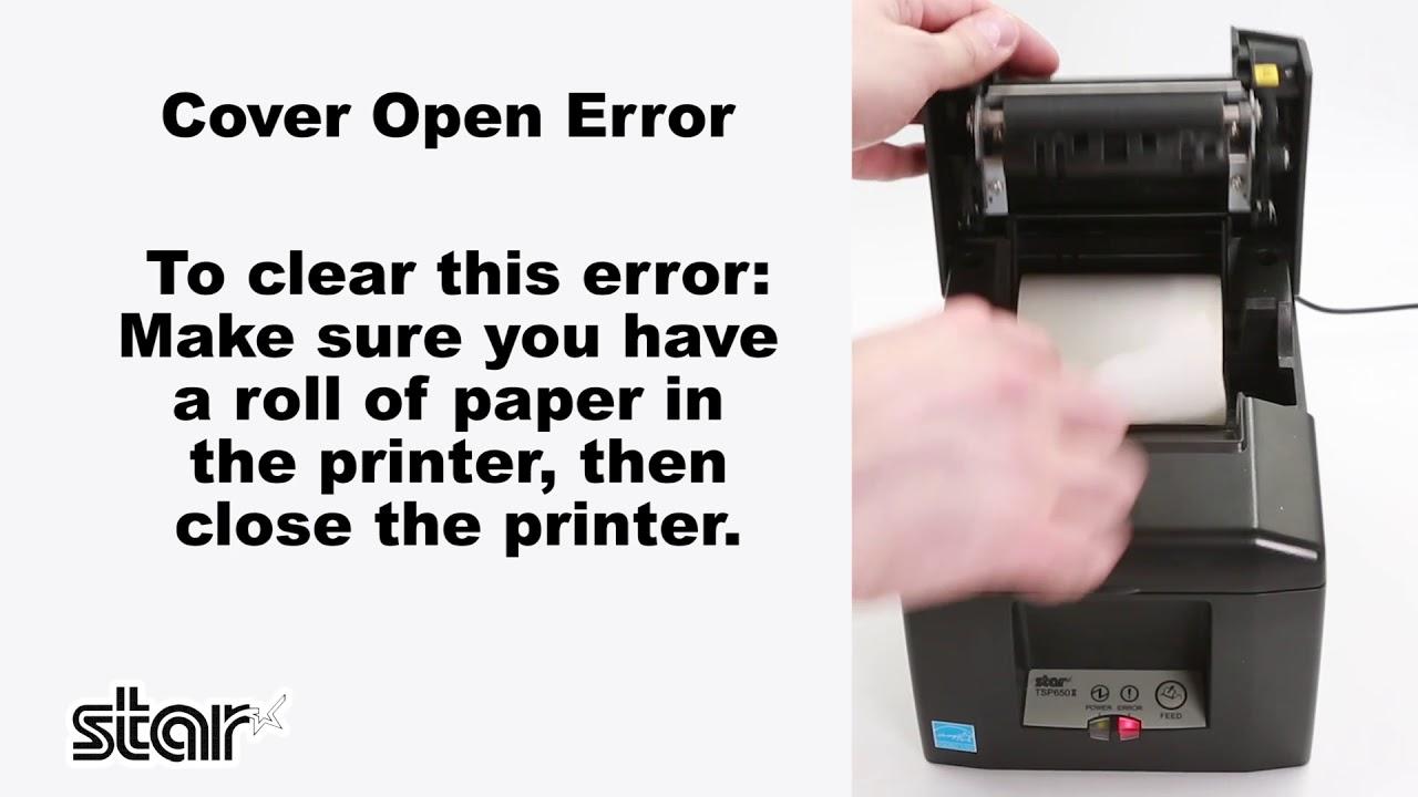 Common Error Conditions for Star Printers