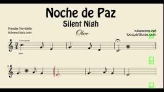 Noche de Paz Partitura de oboe Villancico Popular