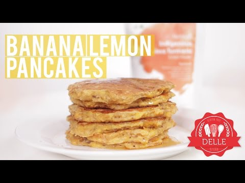 Recipe: Gluten free Java Turmeric Banana Lemon Pancakes | DELLE KITCHEN